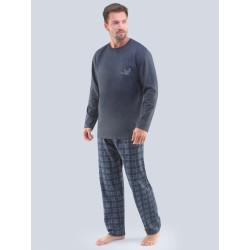 Pánské pyžamo Gino tmavě šedé (79103)