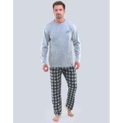 Pánské pyžamo Gino šedé (79103)
