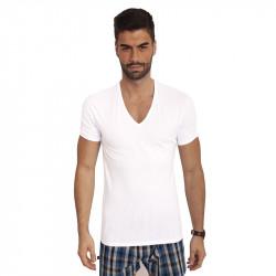 2PACK pánské tričko Calvin Klein 2P ss V neck bílé (NB1089A-100)