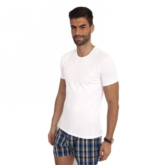 2PACK pánské tričko Calvin Klein 2P ss crew neck bílé (NB1088A-100)