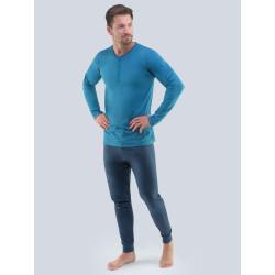 Pánské pyžamo Gino petrolejové (79087)