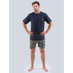 Pánské pyžamo Gino nadrozměr tmavě modré (79096)
