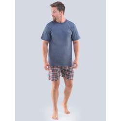 Pánské pyžamo Gino tmavě šedé (79096)