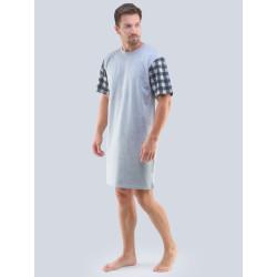 Pánská noční košile Gino šedá (79090)