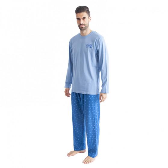 Pánské pyžamo Gino světle modré (79089)