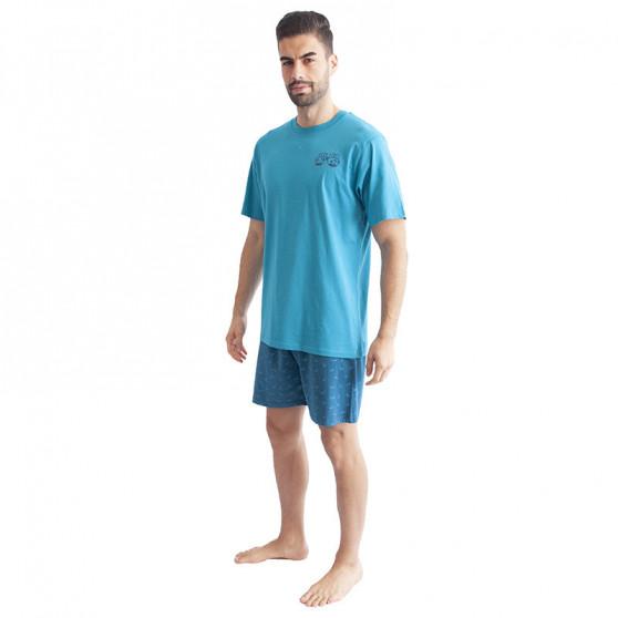 Pánské pyžamo Gino tyrkysové (79094)