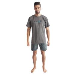 Pánské pyžamo Gino tmavě šedé (79100)