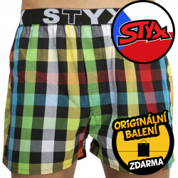 Pánské trenky Styx sportovní guma vícebarevné (B828)