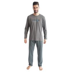 Pánské pyžamo Gino tmavě šedé (79095)