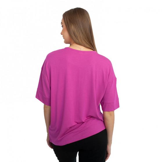 Dámské tričko Calvin Klein tmavě růžové (QS6410E-BM6)