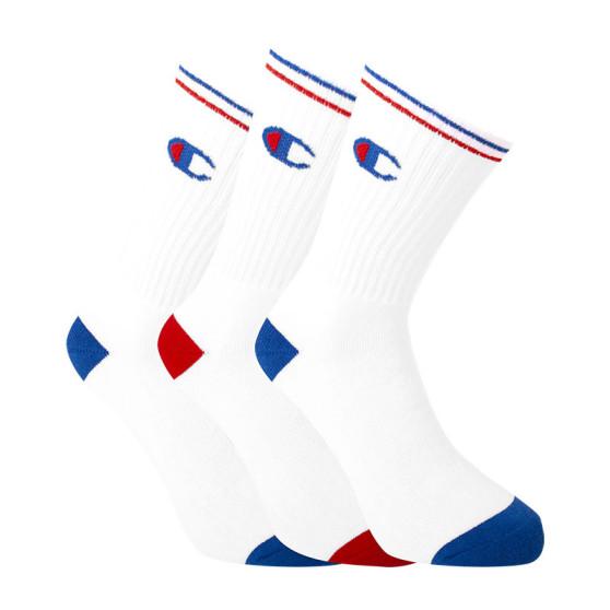 3PACK ponožky Champion bílé v krabičce (Y0829)