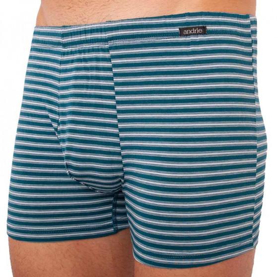 Pánské boxerky Andrie zelené pruhy (PS 5339 B)