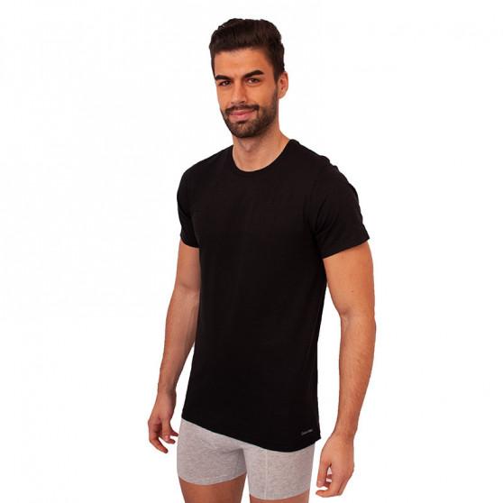 3PACK pánské tričko Calvin Klein černé (NB4011E-001)