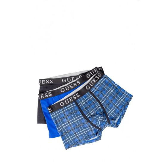 3PACK pánské boxerky Guess vícebarevné (U0BG13JR003-FP43)
