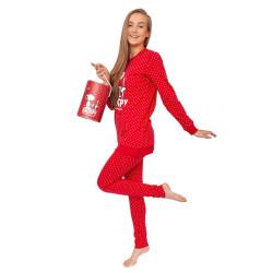 Dámské pyžamo Gisela červené v dárkovém balení (2/1747)