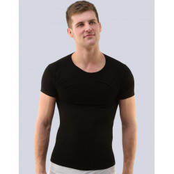 Pánské tričko Gino bambusové černé (58003)