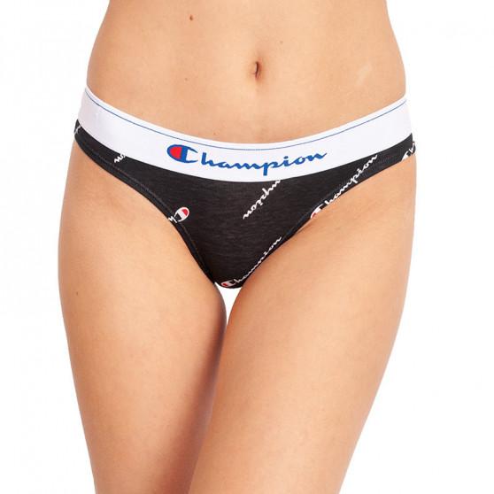 2PACK dámské kalhotky Champion černé s logem (Y0AB1)