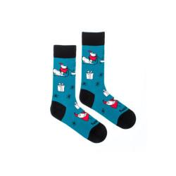 Veselé ponožky Fusakle akční santa (--1061)