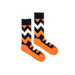 Veselé ponožky Fusakle cikcak tmavý (--0798)