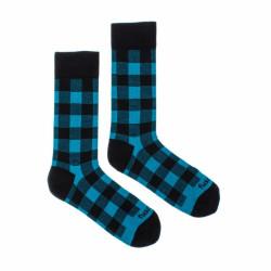 Veselé ponožky Fusakle karo blu (--0938)