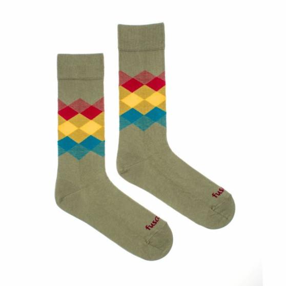 Veselé ponožky Fusakle kosočtverec les (--0807)