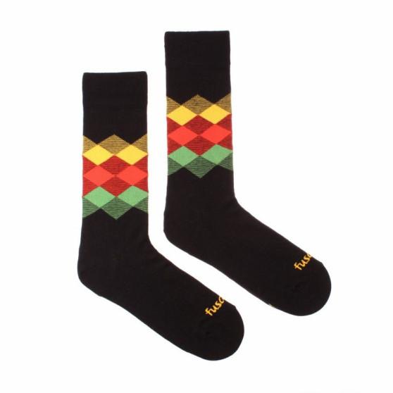 Veselé ponožky Fusakle kosočtverec noc (--0809)