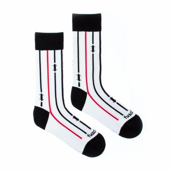 Veselé ponožky Fusakle na prkno bílé (--0940)