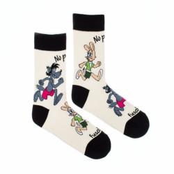 Veselé ponožky Fusakle no počkej chyť mě (--1102)