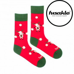 Veselé ponožky Fusakle sob vánoční (--1063)