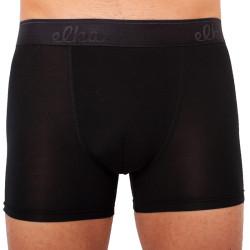 Pánské boxerky ELKA černé s černou gumou premium (PB041)