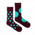 Veselé ponožky Fusakle diskoš bordó (--1083)