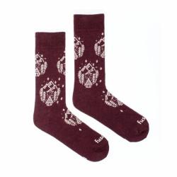 Veselé ponožky Fusakle dřevěnice (--0987)