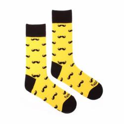 Veselé ponožky Fusakle fousáč žlutý (--0005)