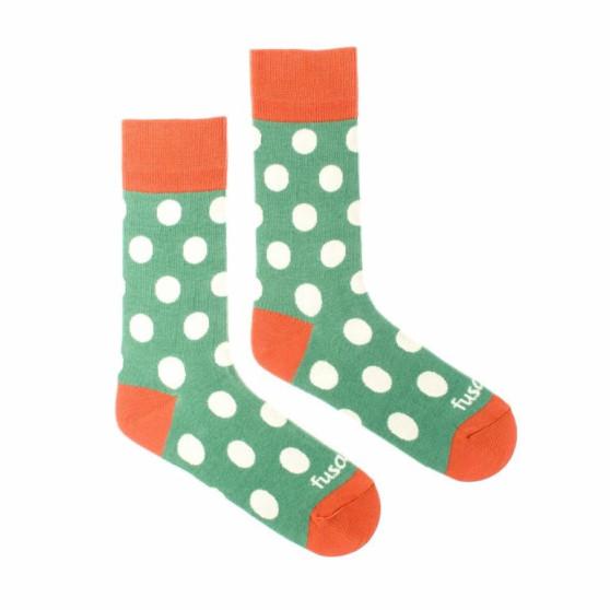Veselé ponožky Fusakle puntíkáč svěží (--1086)