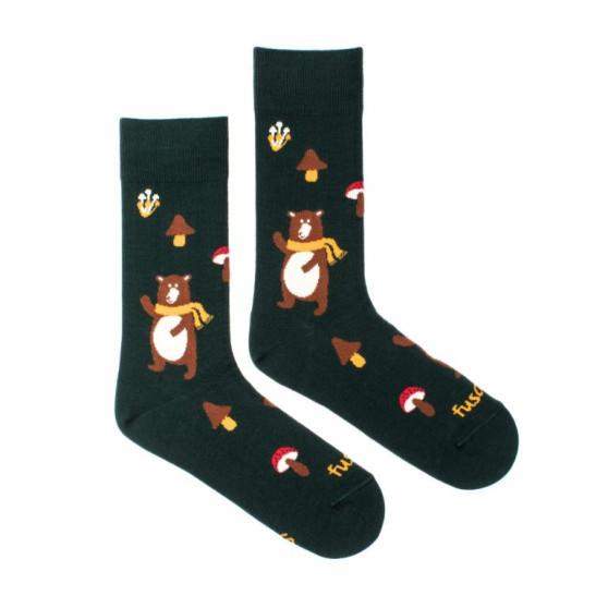 Veselé ponožky Fusakle medvěd (--1043)