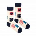 Veselé ponožky Fusakle mozaika (--1044)