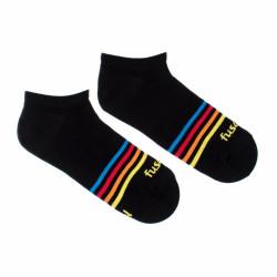 Veselé ponožky Fusakle proužek černý (--0951)