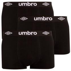 3PACK pánské boxerky Umbro černé (UMUM0241 K)