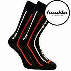 Veselé ponožky Fusakle na prkno černé (--0941)