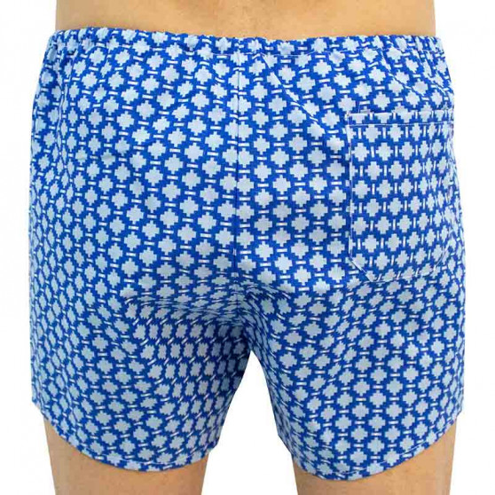 Klasické pánské trenky Foltýn modrý vzor
