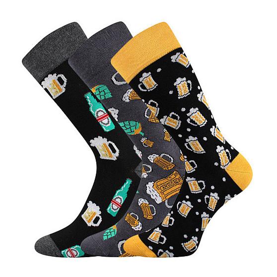 3PACK veselé ponožky Lonka vícebarevné (Debox mix E)