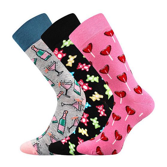 3PACK veselé ponožky Lonka vícebarevné (Debox mix F)