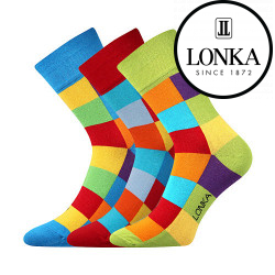3PACK veselé ponožky Lonka vícebarevné (Decube)