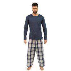 Pánské pyžamo Molvy modré (KT-047)