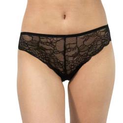 Dámské kalhotky Gina černé s krajkou (10192)