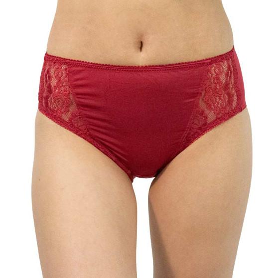 Dámské kalhotky Gina vínové s krajkou (10120)