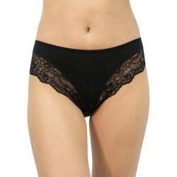 Dámské kalhotky Gina černé s krajkou (10219)
