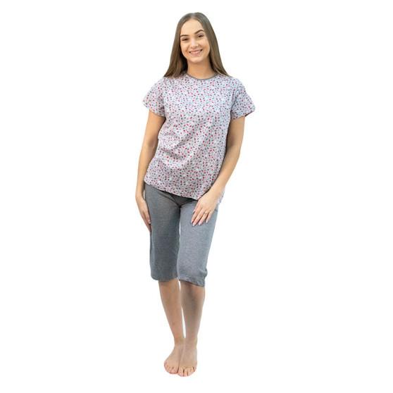 Dámské pyžamo Molvy šedé (AK-4316)
