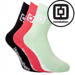 3PACK ponožky Horsefeathers vícebarevné (AW078A)