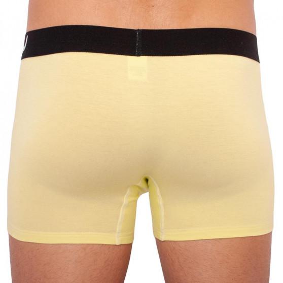 Pánské boxerky ELKA světle žluté (PB1021)